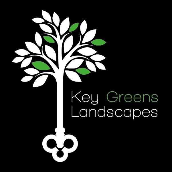 Key Greens Landscapes Logo - Tree with key roots