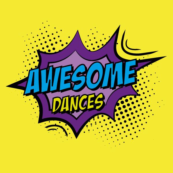 Awesome Dances Pop Art Logo by Collective