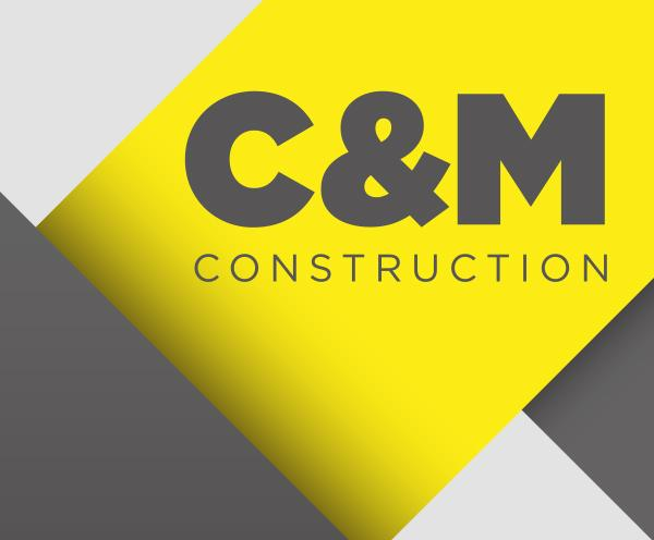 C&M Construction logo design